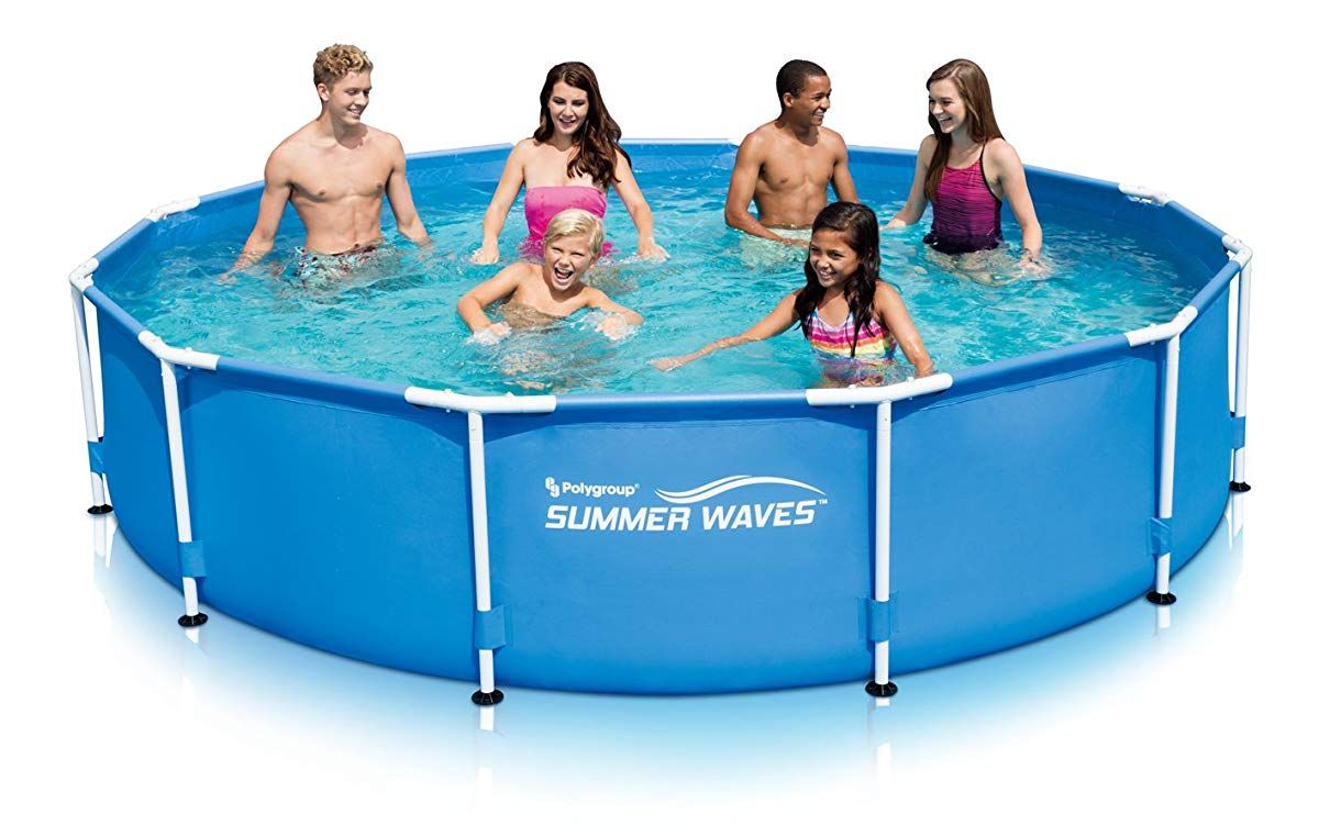 Metal Frame Pool With Skimmer Plus Filter System Summer Waves Pool In Ground Pools