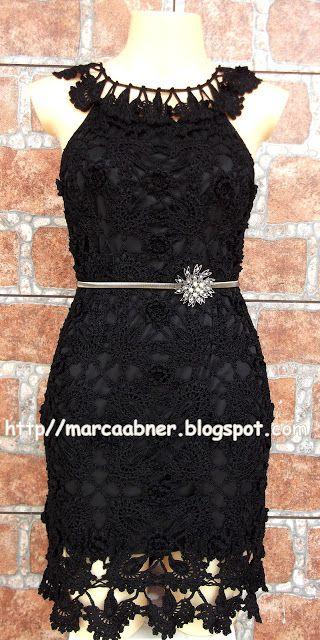 Marcinha крючком: платье крючком ЧЕРНЫЙ