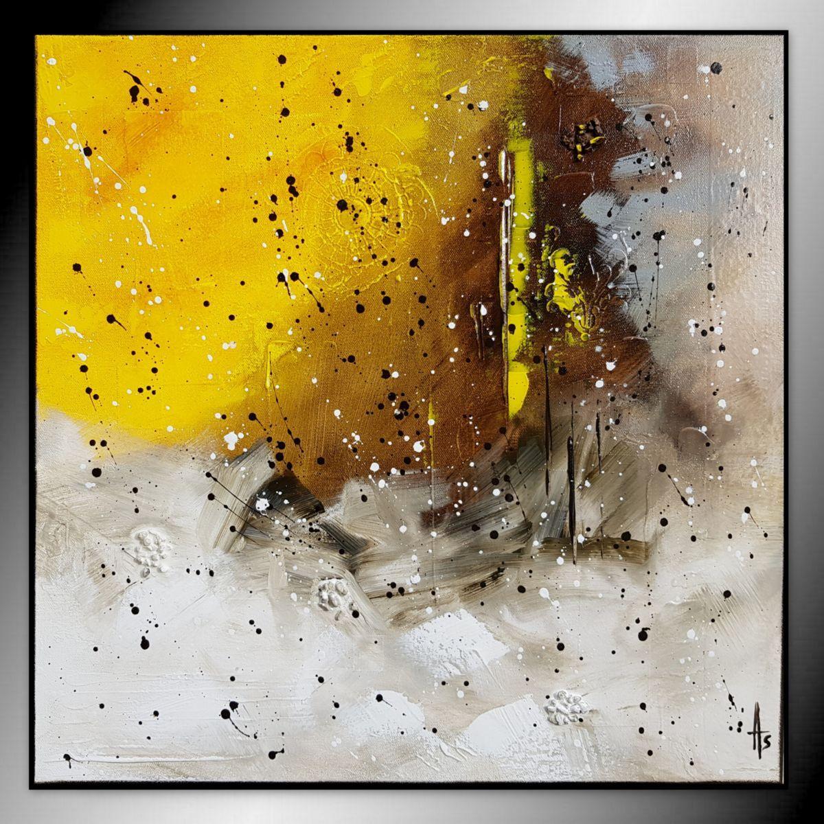 Tableau Peinture Abstrait Peinture 50x50x2 Cm C 2018 Par Sandrine Hartmann Tableau Peinture Abstrait Peinture Abstraite Toile Peinture