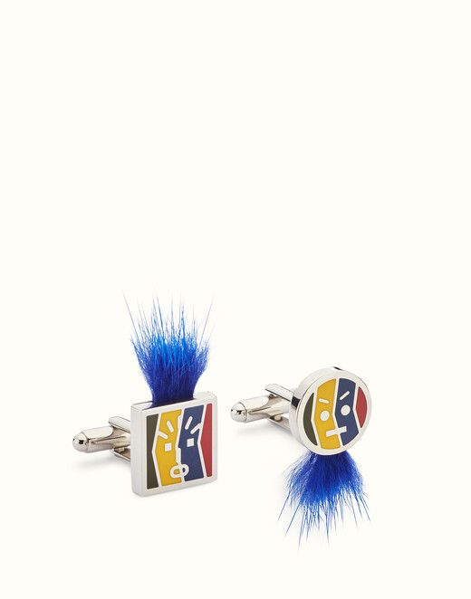 3b644e283b37 FENDI CUFFLINKS - Enamelled cufflinks with fur