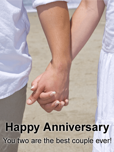 To The Most Wonderful Couple Happy Anniversary Card Birthday Greeting Cards By Davia Happy Anniversary Cards Happy Marriage Anniversary Happy Wedding Anniversary Wishes