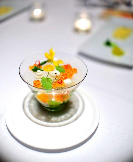 2nd course alaskan king crab gastronom a molecular for Cocina molecular postres