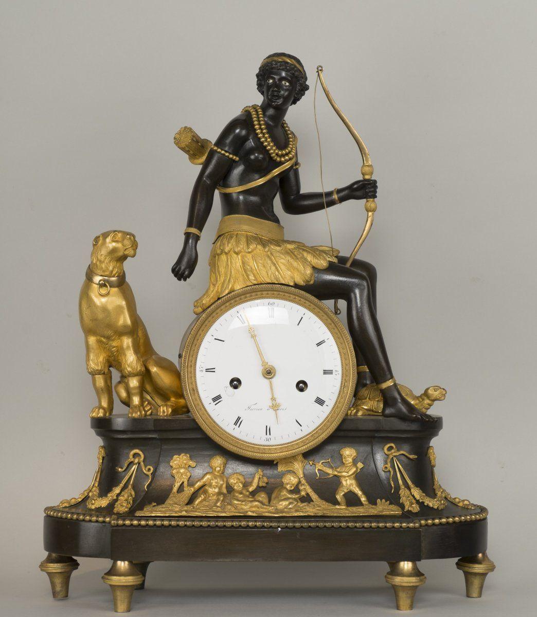 Circa 1800 Clock Depicting Africa
