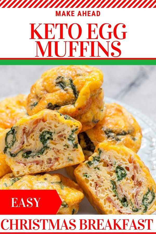 Easy Keto Egg Muffins Need a keto breakfast recipe you can make ahead for the holidays These easy low carb muffins are perfect for the ketogenic diet  Christmas morning W...