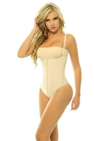7b53e9e466 Proper under-gown wear - Nude Zipper Front Extreme Hold Bodysuit Shapewear