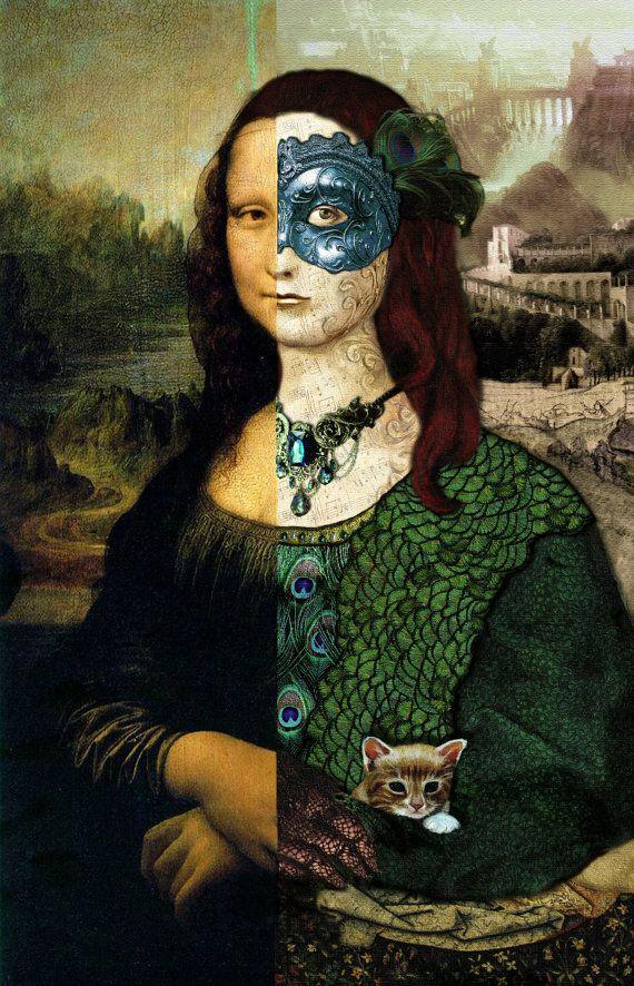 Altered Mona Lisa Print 8 x 10 | Mona Baby! | Pinterest