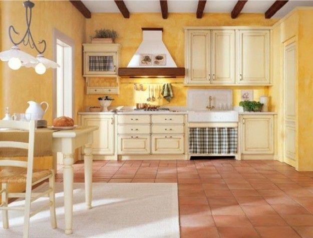Abbinamento colori pareti cucina | Cucine | Cucina romantica ...