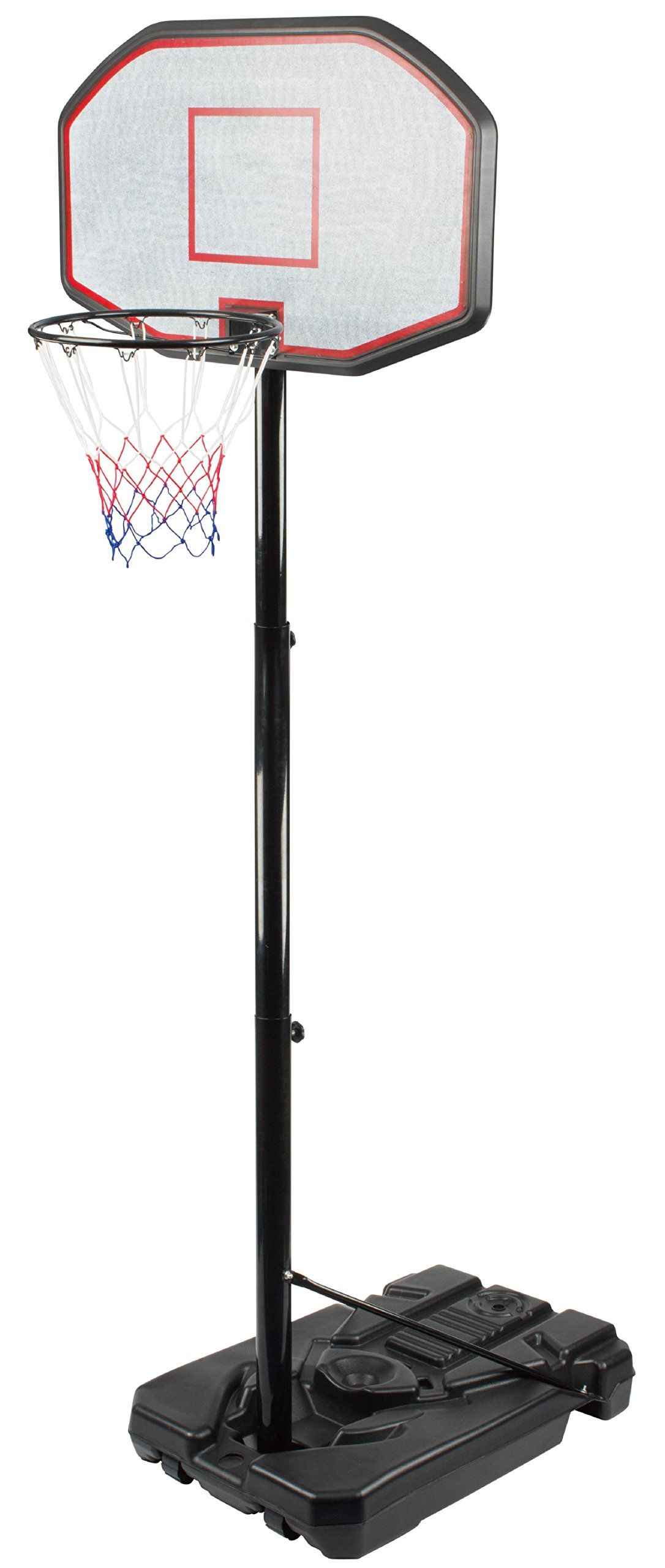 Movement God Portable Basketball System With 44 Backboard And Adjustable Pole For Outdoor Court Or Backyards Back Adjustable Pole Basketball Systems Portable