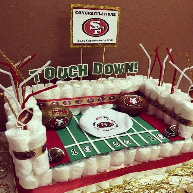 49ers diaper cake!