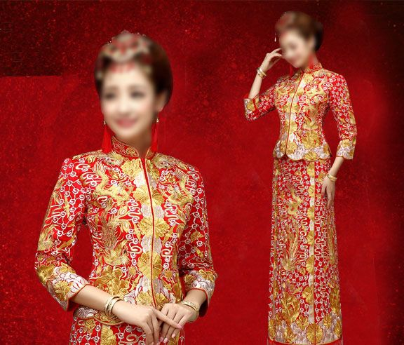 72e854d9927c3 Cantonese Traditional Wedding Dress Gua(Kwa) Qun, fashion, cheongsam ...