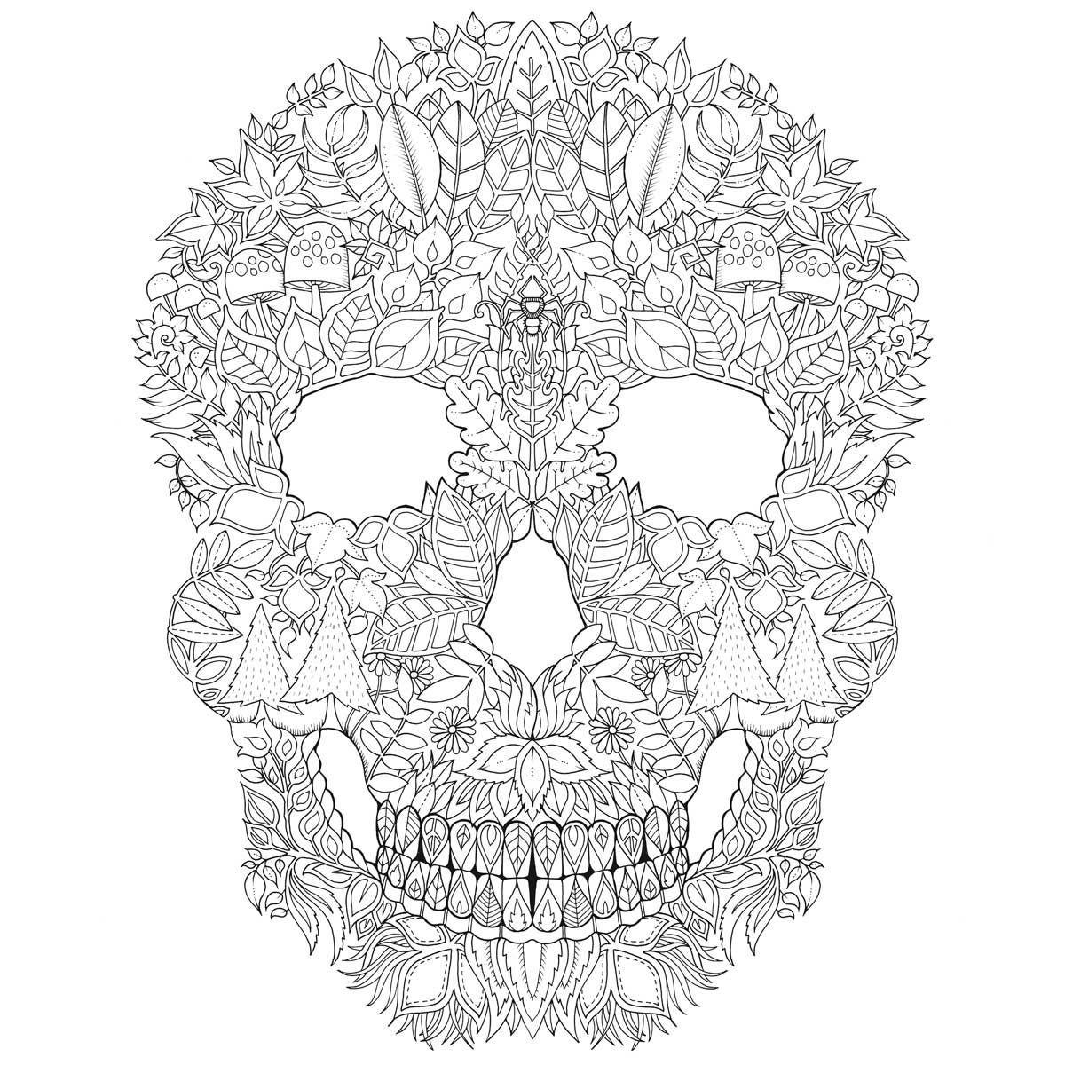 Zaczarowany Las Koloruj Szukaj Symboli Odkryj Tajemnice Skull Coloring Pages Animal Coloring Pages Johanna Basford Coloring Book