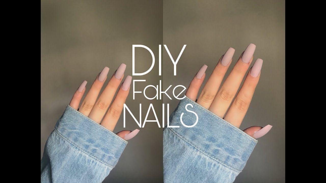 Diy Fake Nails At Home Under 10 كيفية تركيب اظافر اصطناعية Fake Nails Nails At Home How To Do Nails
