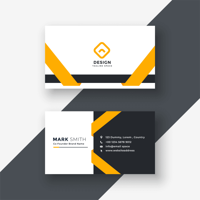 Graphic Design Services Hire A Graphic Designer Today Fiverr Yellow Business Card Business Card App Business Card Design