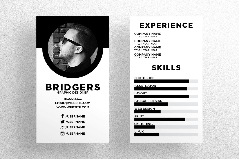 The Resume Business Card Template Mit Bildern Design Think