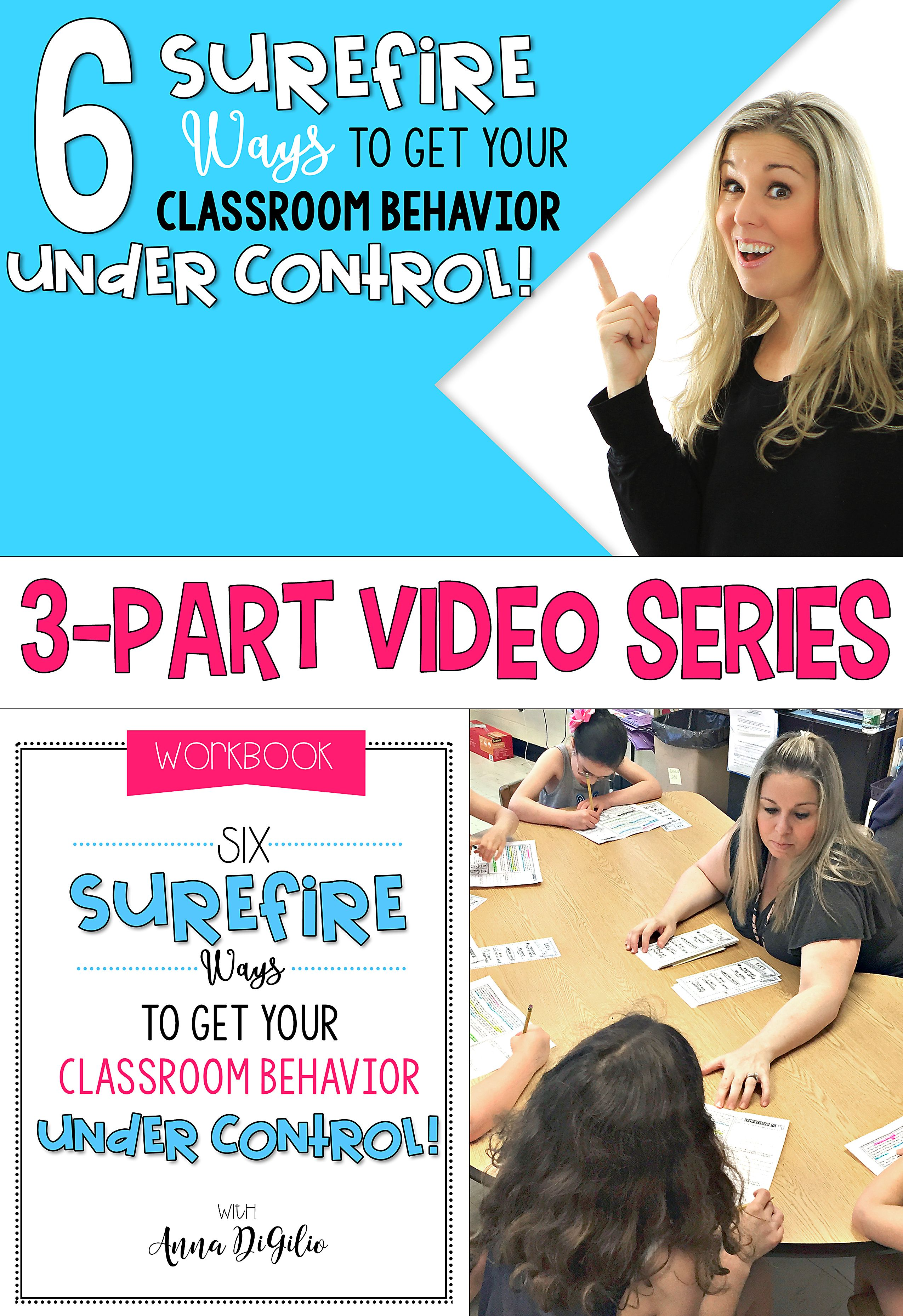 Join Anna for a 3-Part FREE Video Series on How to go From Stressed to Streamlined Teaching! Click here to DOWNLOAD your FREE workbook and watch Video #2 all about my 6 Surefire Ways to Get Your Classroom Behavior Under Control!