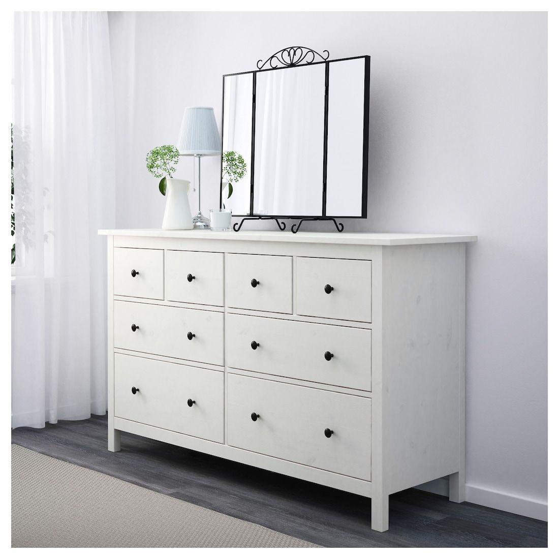 Hemnes 8drawer dresser white stain 63x37 38 ikea in