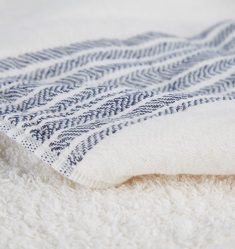 Navy chevron organic flax towel navy chevron hand towels and towels