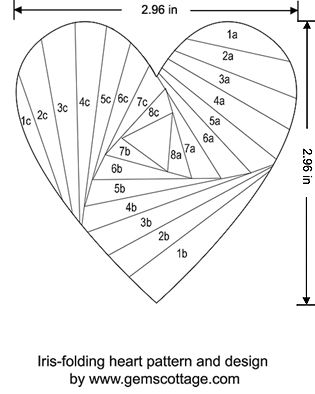 foldable heart template - Selol-ink