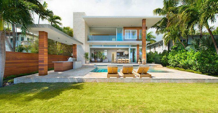 Casa Moderna Di Lido Island Miami Beach Florida Casas En Miami Arquitectura Contemporanea Arquitectura