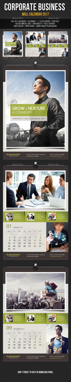 Corporate business wall calendar 2018 v08 corporate business corporate business wall calendar 2017 template psd saigontimesfo
