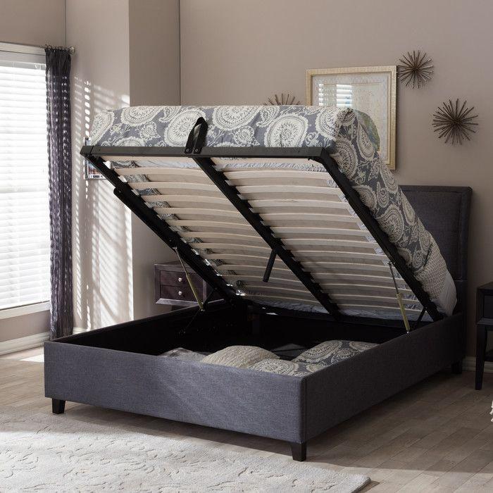 Wholesale Interiors Baxton Studio Queen Upholstered Storage Platform Bed U0026  Reviews   Wayfair