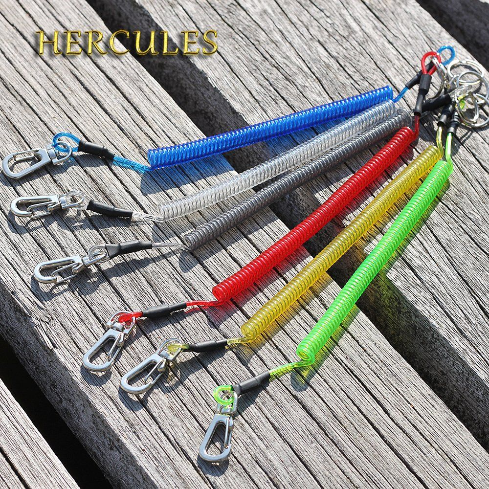 Secure Safety Fishing Lanyards Rope Retractable Coiled Tether Hercules