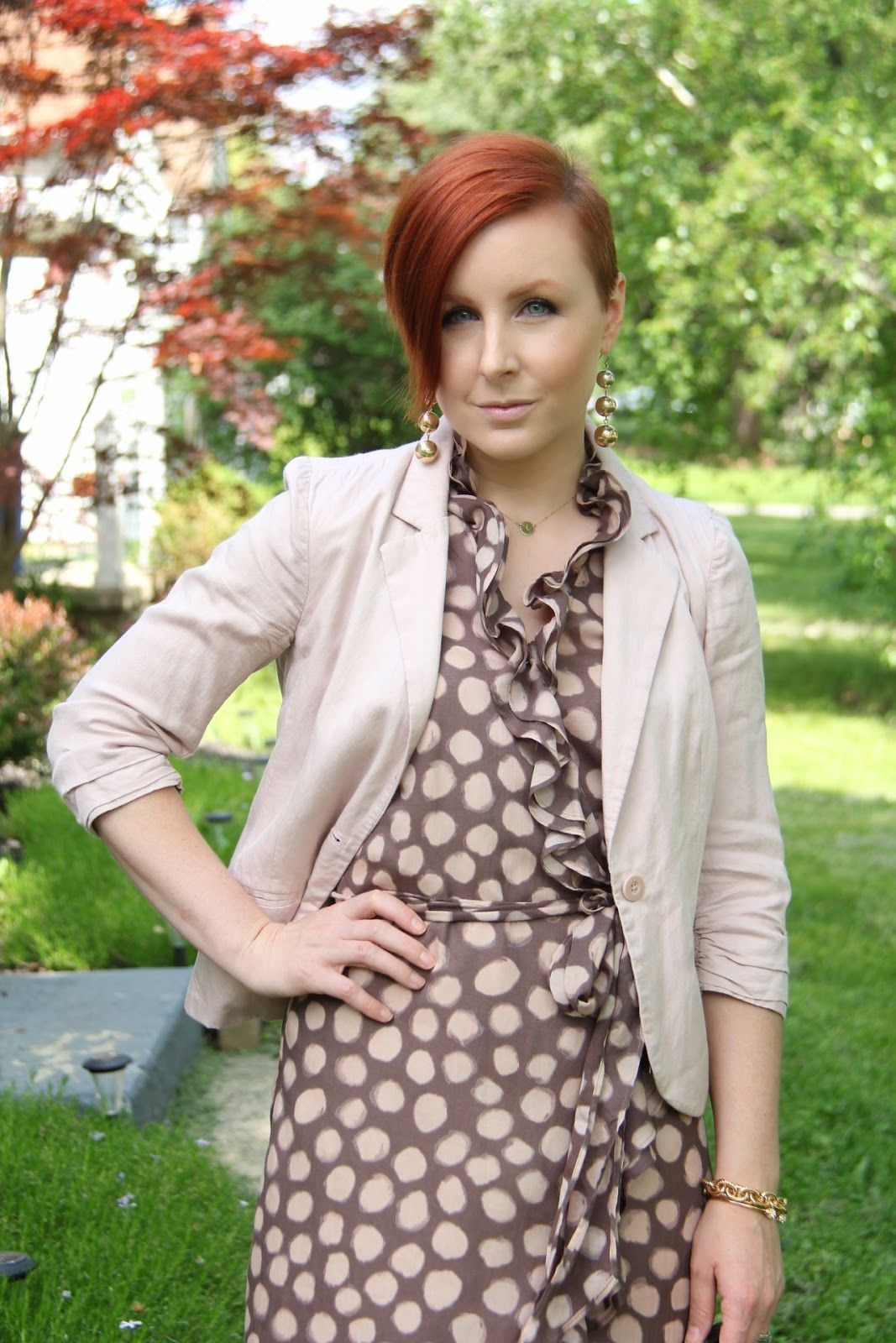 Thrift and Shout Cute Outfit of the Day Pastel Polka
