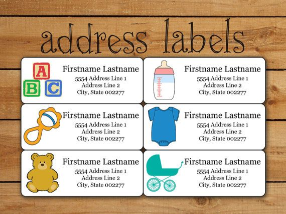 Baby Address Label Sticker Set, Avery Template For Avery Address Labels,  Address Stickers, Baby Shower, Birth Announcement, Printable  Free Baby Shower Label Templates