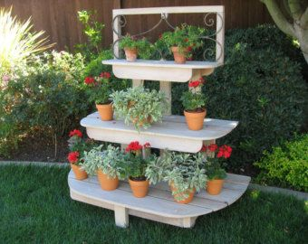 French Inspired 3 Tiered Plant Stand