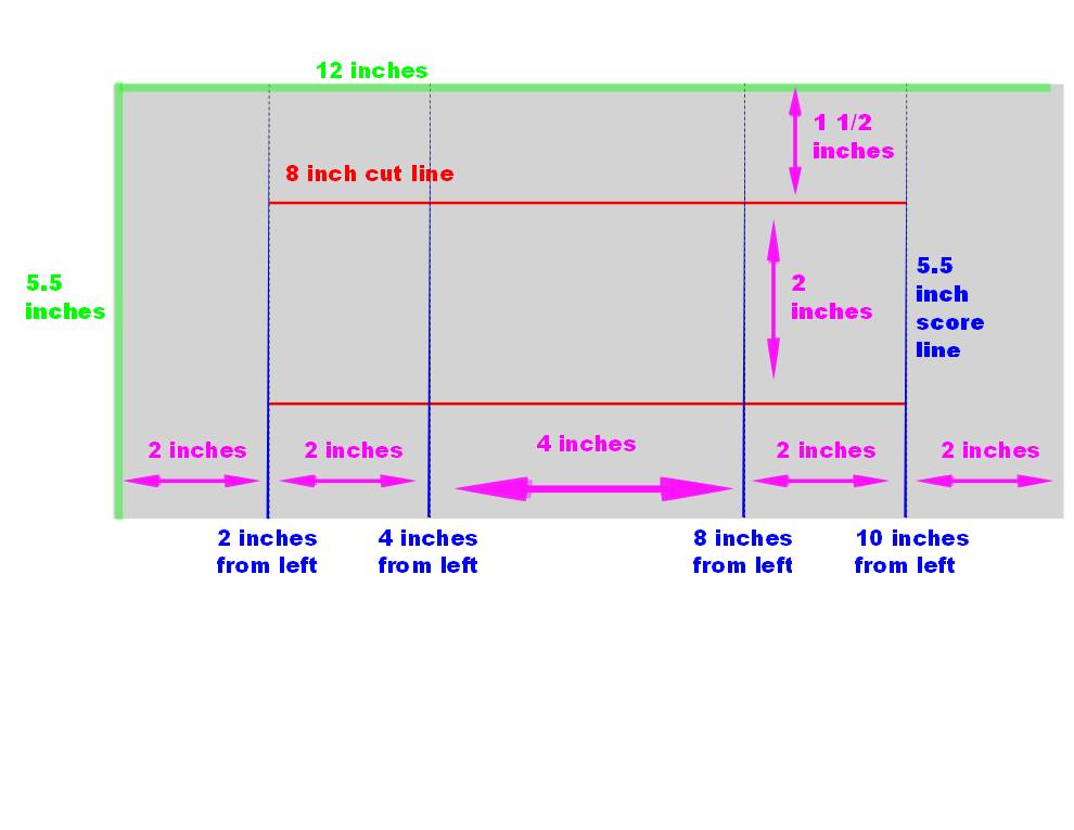 Here Are The Measurements For A Shutter Card Also Called A Step Card You Start With A Piece Of Paper That Is 12 Interactive Cards Step Cards Side Step Card
