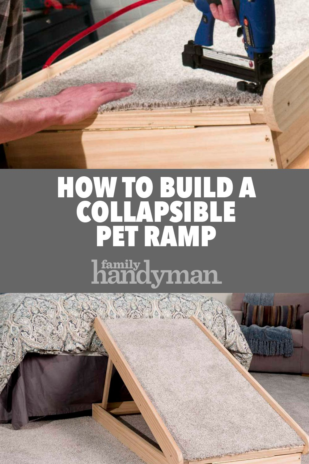Saturday Morning Workshop How To Build A Collapsible Dog Ramp Pet Ramp Dog Ramp For Bed Dog Ramp