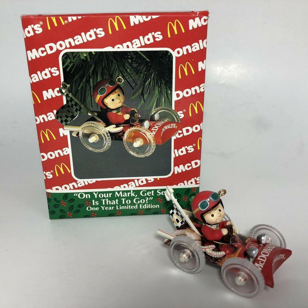 Enesco McDonalds Race Car Christmas Ornament On Your Mark
