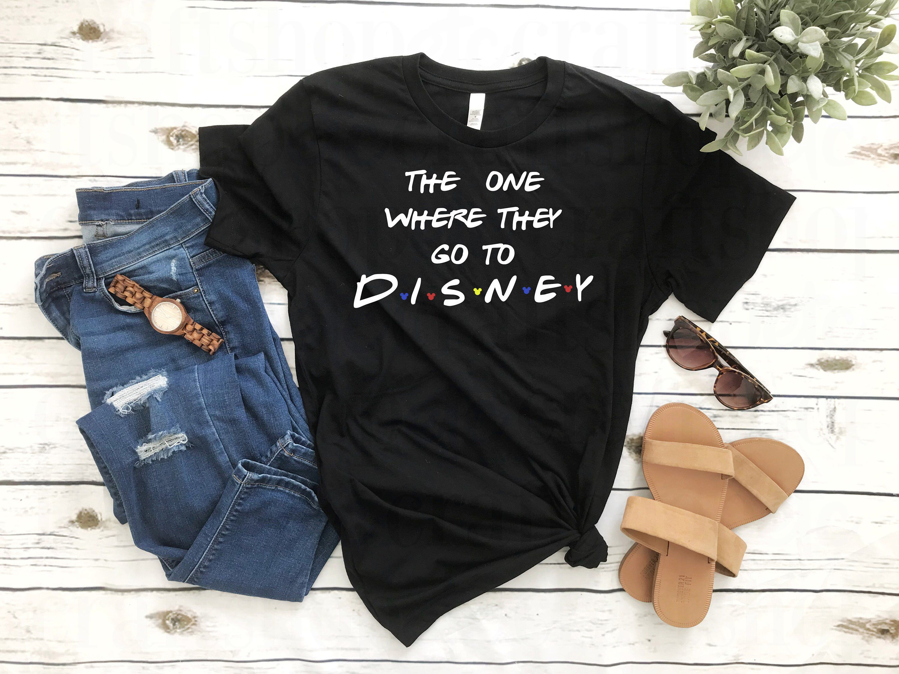 Can These Shirts Be Any Cuter Friends Fanatics Unite Friends Disney Shirt The One Where They Go To Disney Graphic Tee Outfits Mother Shirts Graphic Tees