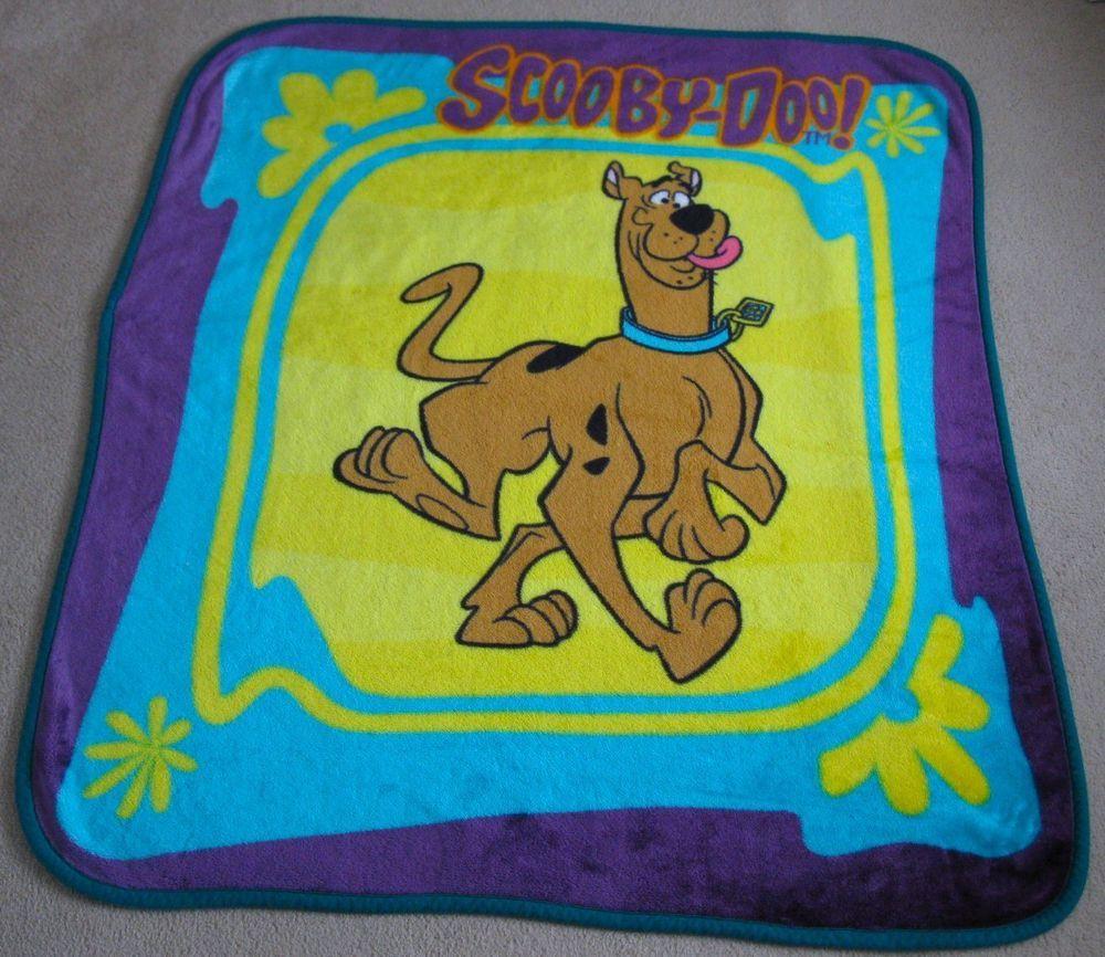 Vintage Scooby Doo Large Fleece Blanket 54 Quot X 58 Quot Rare