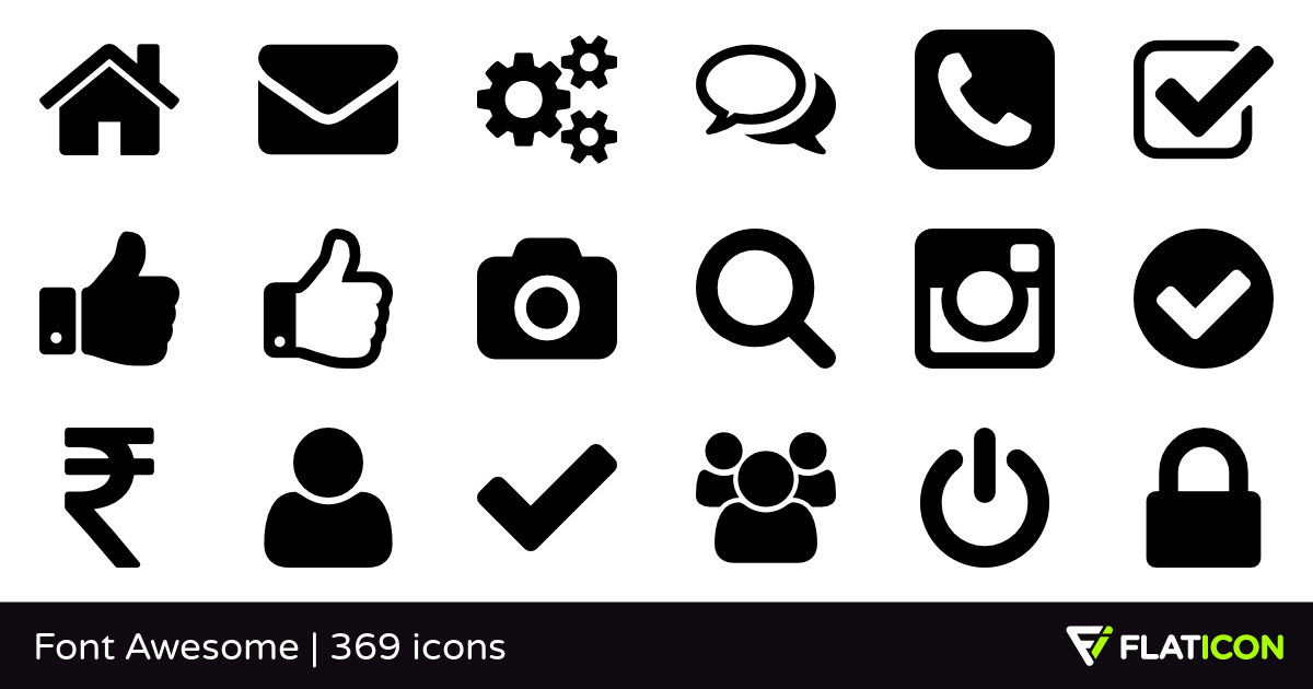 365 Free Vector Icons Of Font Awesome Designed By Dave Gandy Free Icon Packs Icon Icon Pack