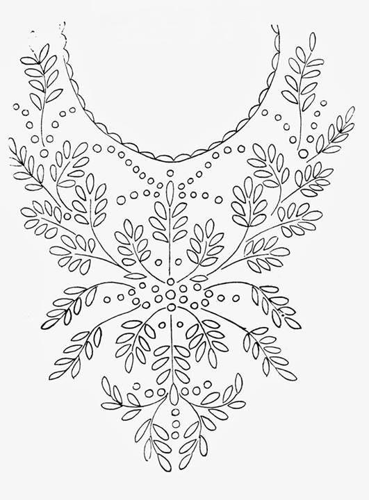 Hand embroidery designs for kurtis neck | neck design | Bordado ...