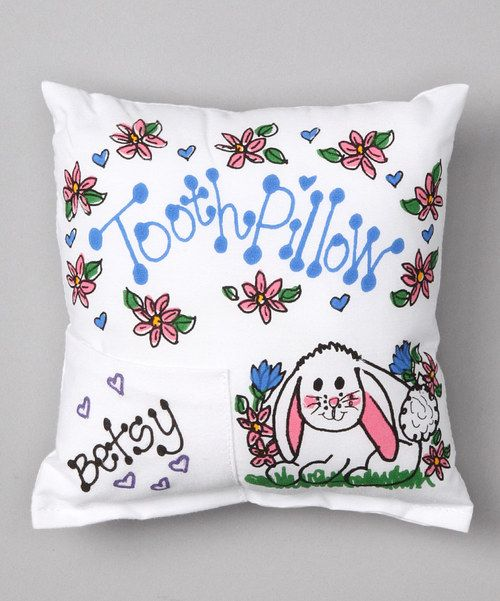 Take a look at this Bunny Personalized Tooth Pillow on zulily today!