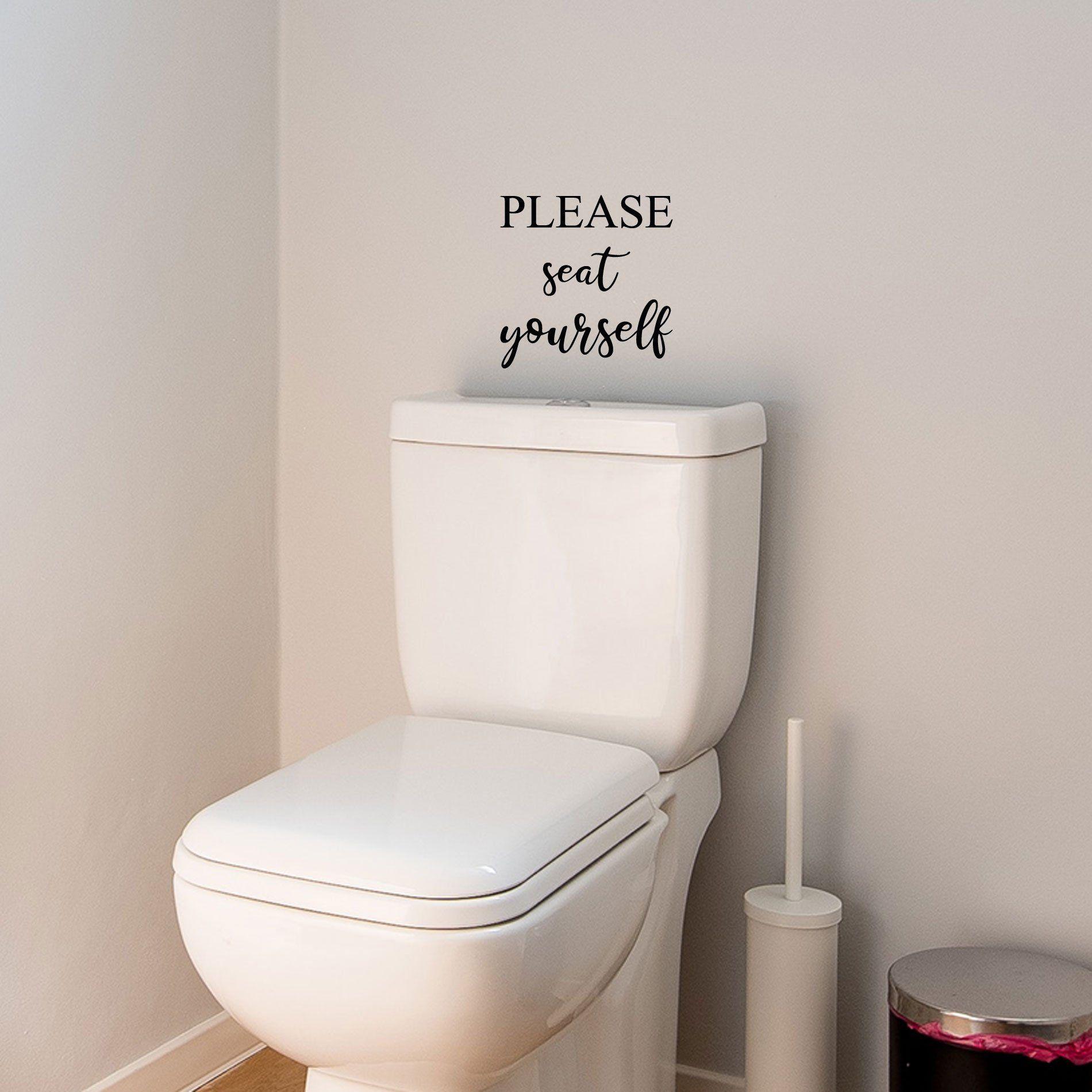 Decal Funny Bathroom Sticker Wall