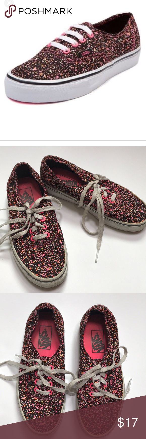 7419c27ac24f12 Vans Paint Splatter Glow In The Dark Sneakers Vans Paint Splatter Glow In  The Dark Sneakers