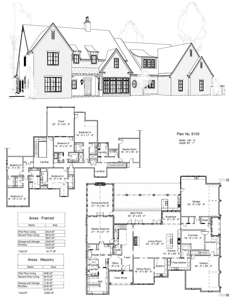 Love Prep Kitchen And Pantries Interesting Split Garage Plan 8100 Design Studio Beach House Plans Custom Design House Plans Southern House Plans