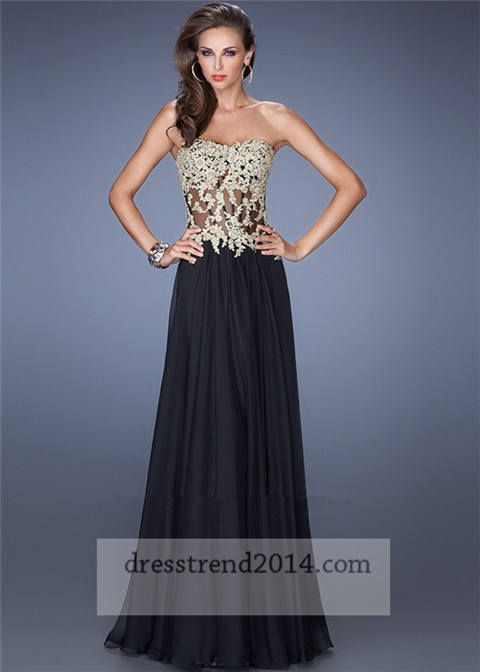 Prom Dresses 2014 Sheer Black