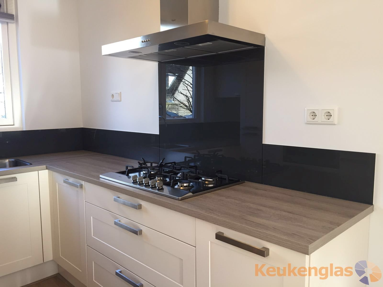 Zwarte Glazen Keuken Achterwand Arnhem Keukenglas Keuken Achterwand Keuken Keuken Ontwerpen
