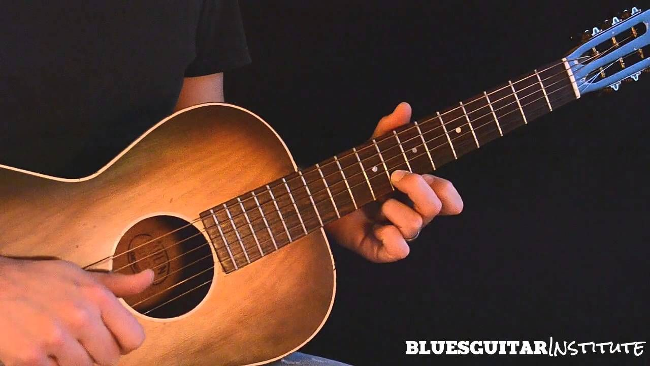 Simple Acoustic Blues Guitar Lick In E Train Whistle Lick