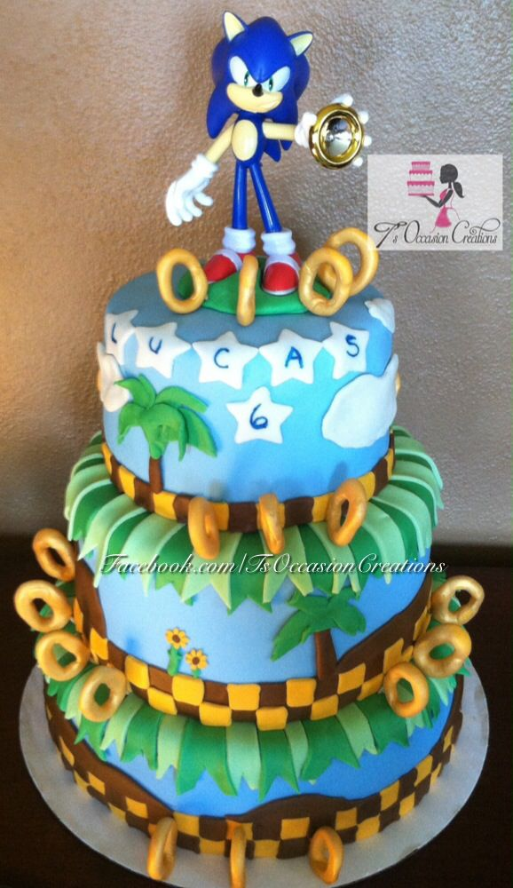 Sonic The Hedgehog Birthday Cake T S Occasion Creations