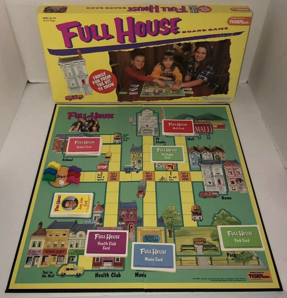Vintage 90s Full House Board Game 1993 Tiger Tv Show All Pieces Included Rare Ebay Full House Full House Tv Show Board Games