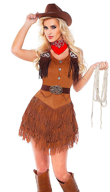 Glamorous Cowgirl Halloween Costume Idea Halloween  -3272