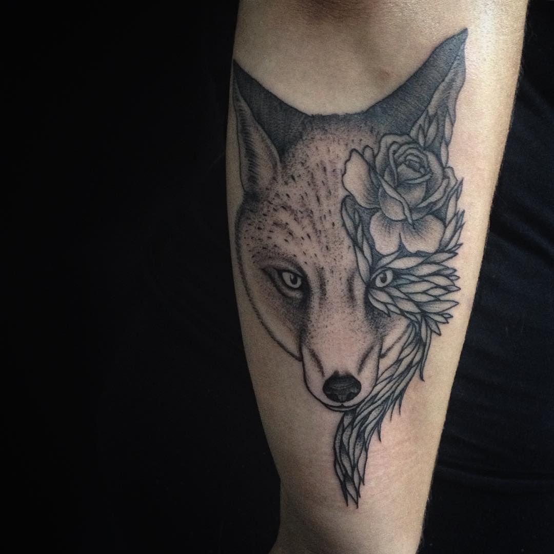 Mais uma pra @bruhorst  obrigado!  #gellystattoo #tattoo #tatuagem #tattoo2me #sptattoo #vilamadalena #vilamada #saopaulo #sp #brasil #fox #foxtattoo by rafaeldenitattoo