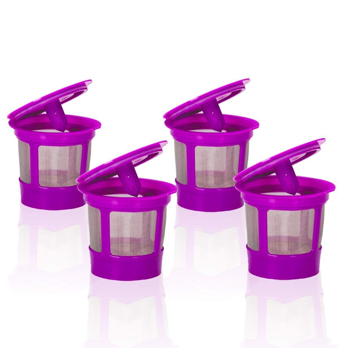 4 Pack Keurig Coffee Filter Reusable K Cups Replacement