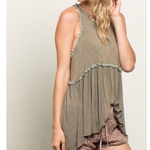 Rustic Boho Tank Brand new all items are from a boutique I own. POL Tops Tank Tops