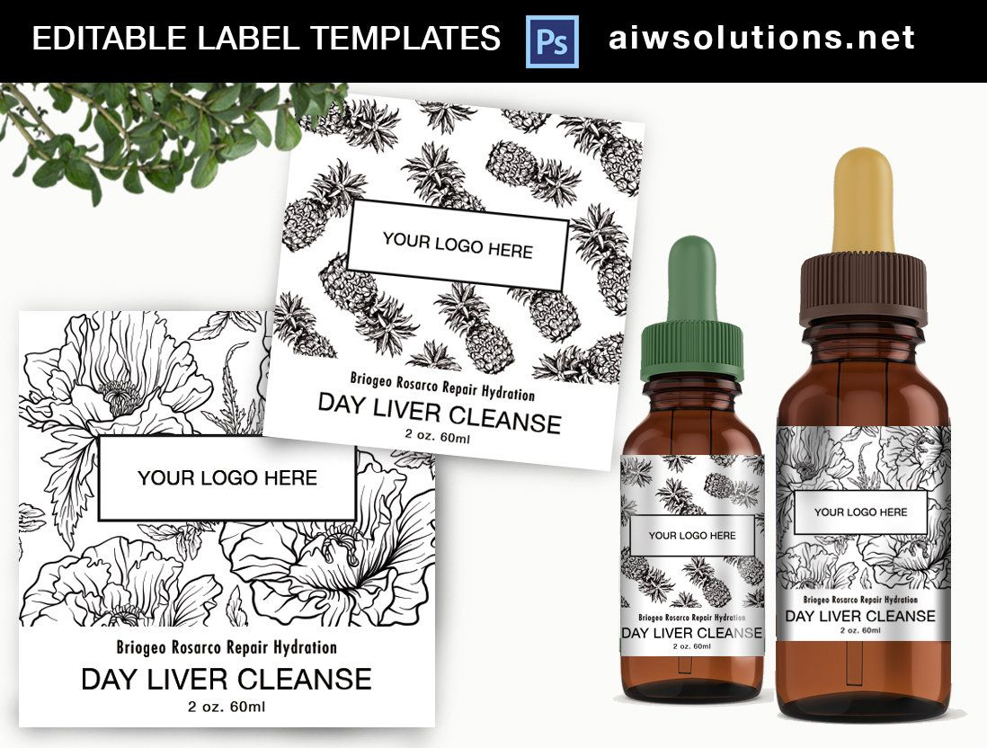 Editable Aromatherapy Label Template Oil Label Template